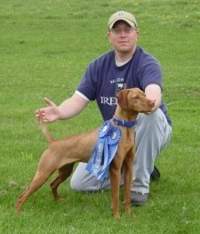 Jon & Nena -- First Place, Open Puppy & Walking Puppy, GSP of IL Field Trial, April 2007